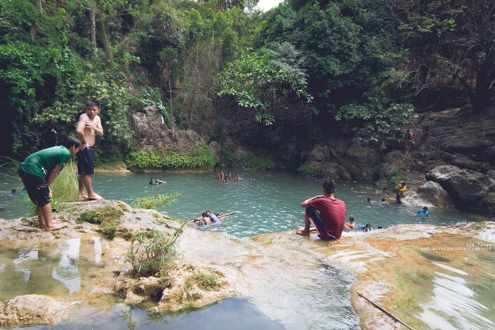 The dirty Bolinao Falls which isn't evident in this photo. Don't go to this place. It's expensive and not worth it.