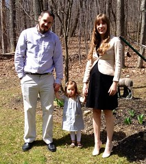 The family on Easter Sunday, my girl in her Ice Cream Dress