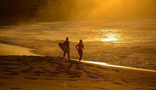 beach bondi sunrise sydney australia