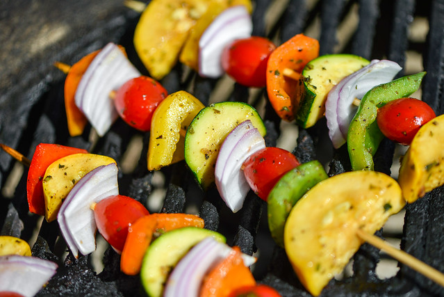 Balsamic Marinated Vegetable Kebabs
