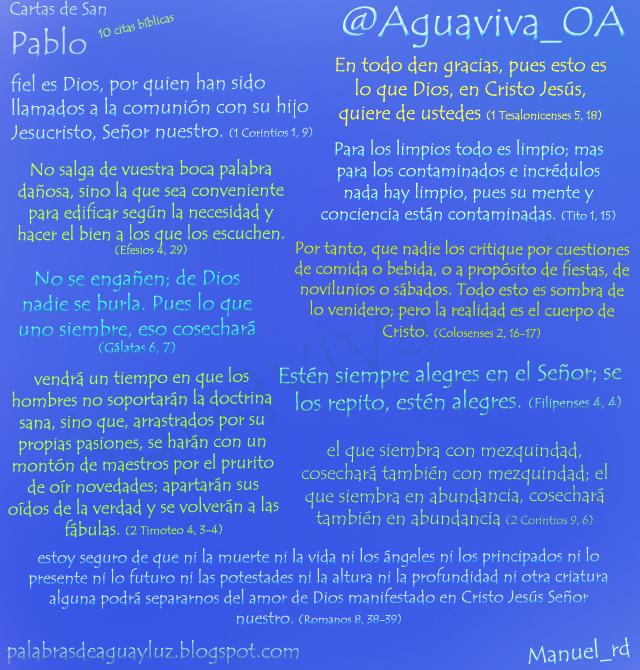 10 citas bíblicas de las cartas de San Pablo
