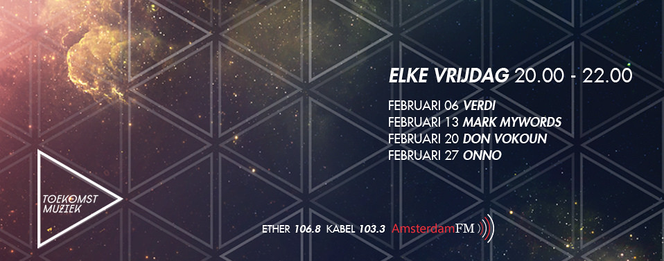 Liveset and interview at Toekomstmuziek radio @ Amsterdam FM 20-02-2015