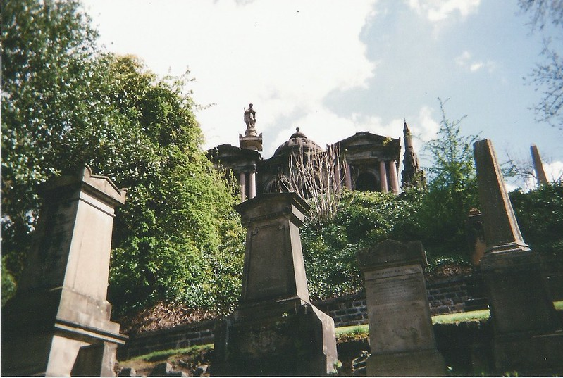 Glasgow in film photography. London UK Lifestyle blog.Smudgeness. Graveyard