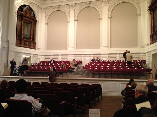 The empty stage, American Academy of Arts and Letters Ceremonial
