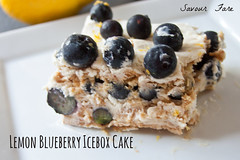 Lemon Blueberry Icebox Cake Slice