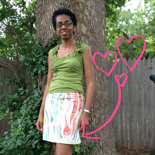 Turning into my summer staple. this skirt.