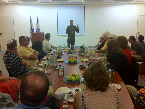 Ultimate Mission Participants Visit Erez Crossing on Gaza Border by Shurat HaDin - Israel Law Center
