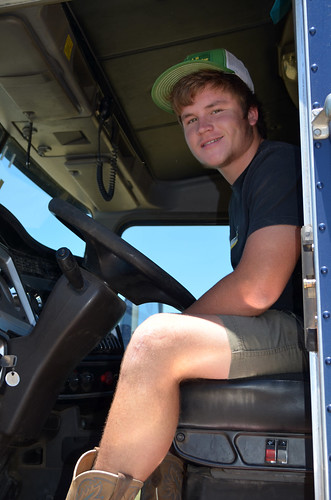 Frank prepares to take a load to Wichita Falls