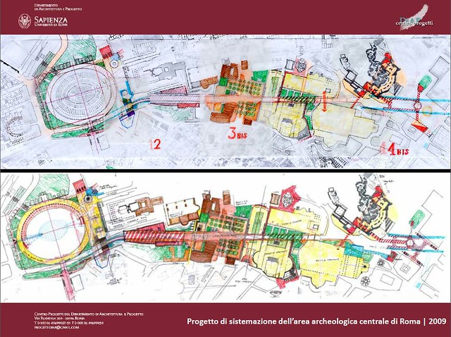 "ROME – The Imperial Fora 2009 / 2013 – Mayor Marino, ""Pedestrianisation Zone of the Via dei Fori Imperiali"" [June-August 2013]. Historical References: Roma, I Fori Imperiali (1911-1999)."
