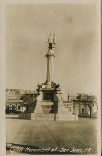 Colon Monument at San Juan, P.R.