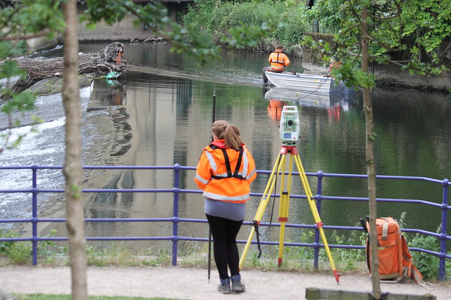 Surveying the weir