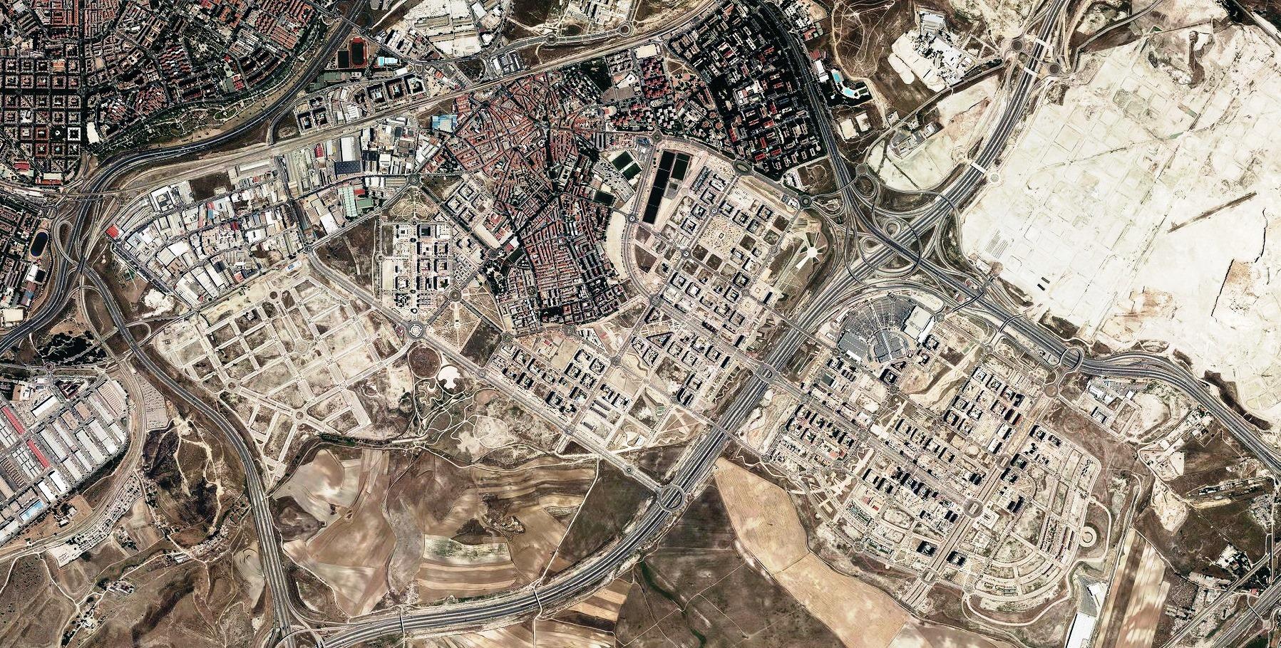 después, urbanismo, foto aérea,desastre, urbanístico, planeamiento, urbano, construcción, ensanche de Vallecas, Vallecas, Madrid