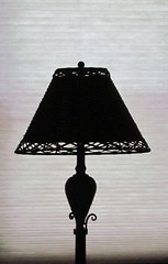 wood(0.0), iron(0.0), lamp(1.0), light fixture(1.0), lampshade(1.0), lighting(1.0), black(1.0),