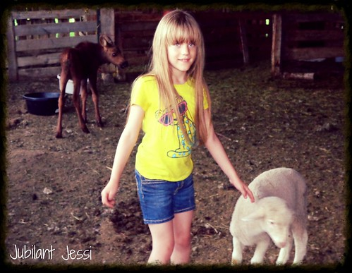 Lily with Moose and Lamb.
