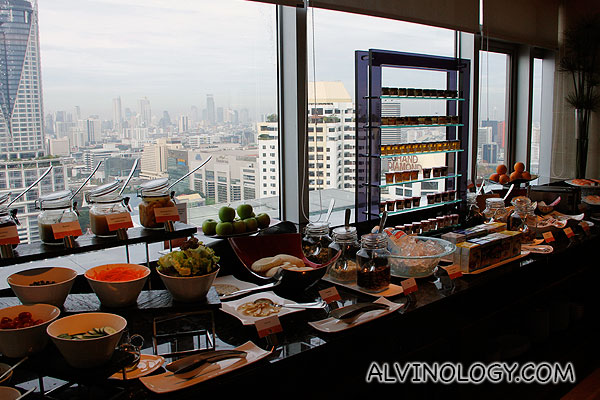 Pick your breakfast while enjoying the panoramic view of the city