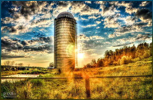 Silo at sunset HDR