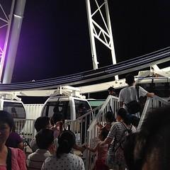 Ferris Wheel up close.