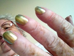 Beetle coloured nails! by Julie70