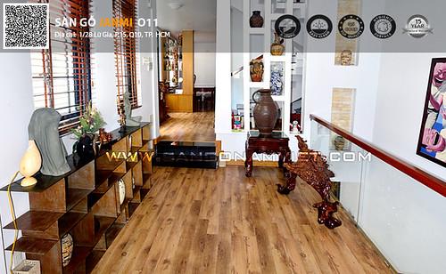 Thiết kế sàn gỗ phòng khách mở tuyệt đẹp