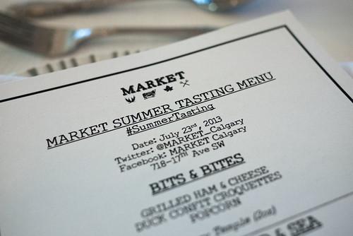 Market Summer Tasting Menu