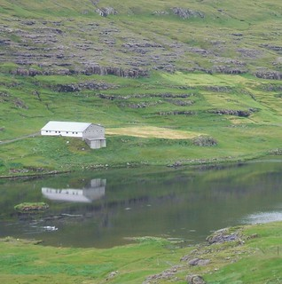 Barn and Reflection, Faroes
