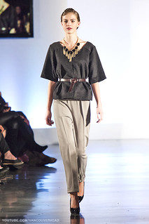 Eco Fashion Week Day 3 Evan Ducharme Fashion Collection Belladonna - pants, top and belt