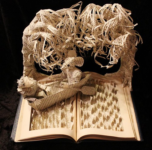 altered book sculpture