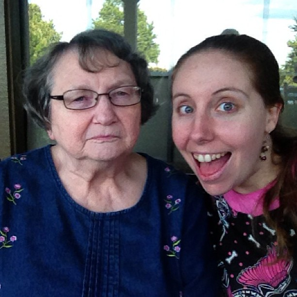 Skye's Grandma is thrilled to meet me, as you'd imagine. #epicroadtrip
