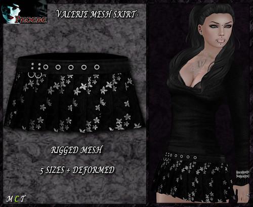 P Valerie MESH Skirt ~Flowers 2~ v2
