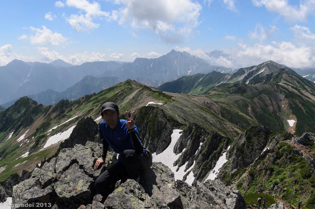 20130811 槍ヶ岳を背景に