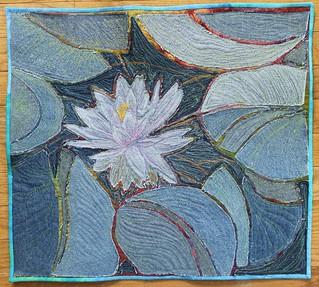 Denim Lily quilt