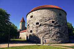 Fat Margaret Tower in the Old Town of Tallinn Estonia