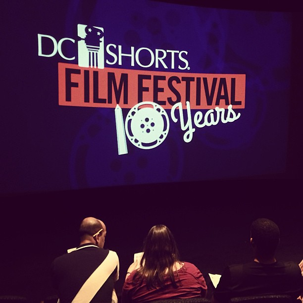 In the audience for DC Shorts at the Navy Memorial #dcshorts