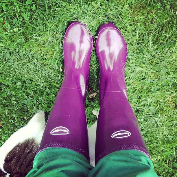 23/9.2013 - who knew #havianas made wellies?