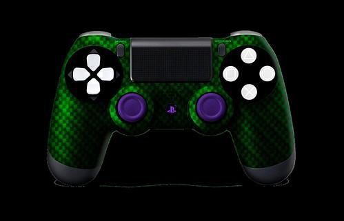 PS4Controller-GreenBlackCarbonFiber