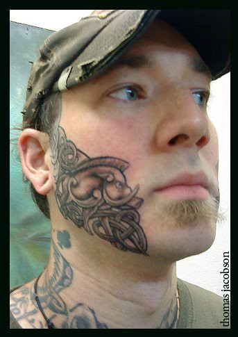 Celtic face tattoo by thomas jacobson thomas jacobson for Best tattoo artist in orlando