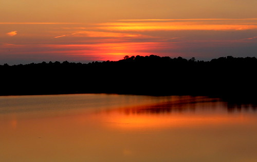sunset northcarolina lakecrabtree