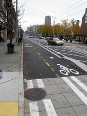 Broadway Separated Bike Lane