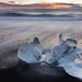 Glacial Ice at Jökulsarlon Beach, Iceland by schmitzcory