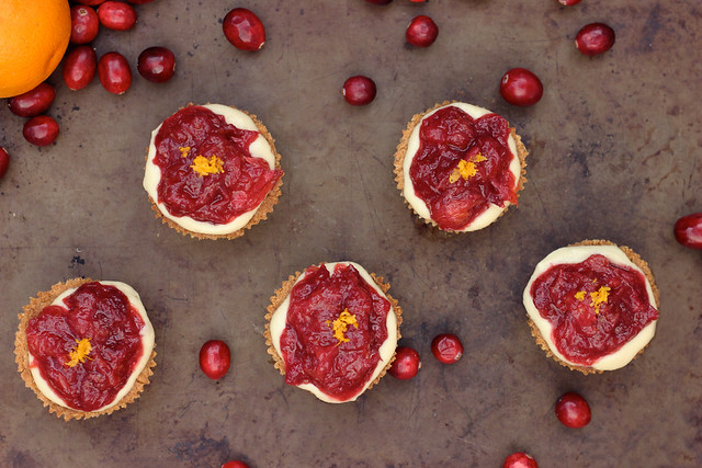 Cranberry-Orange Spice Mini Tarts - Gluten-free & Vegan