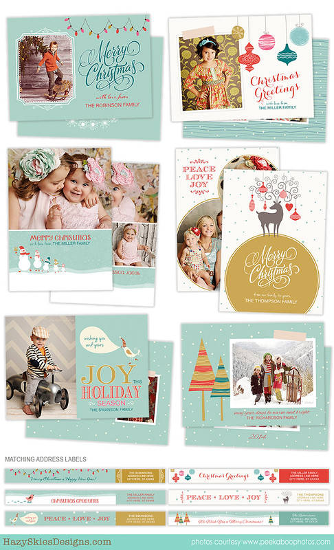 Christmas Card Template for Photographers Photo Card Template HC20106