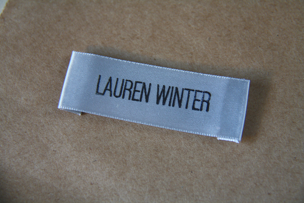 Weekend diy how to make your own clothing labels lauren for Create custom clothing tags