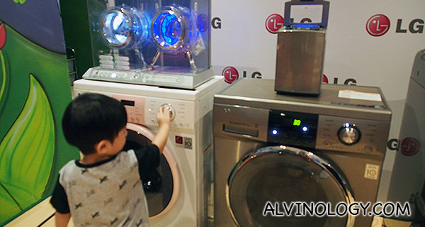 Asher recognised the LG washing machine immediately as the same one we had at home