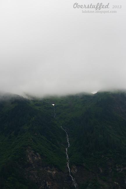 A foggy day in Juneau Alaska