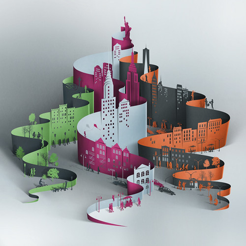 NYC-paper cutting-eiko-ojala