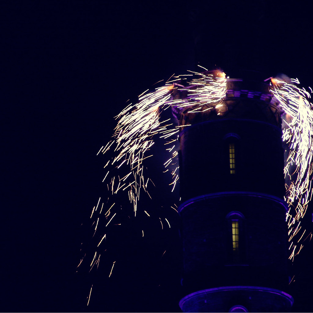 Fireworks at Calton Hill