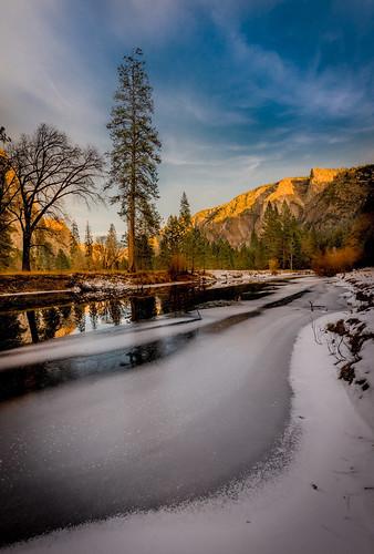 Merced River, Winter Sunset