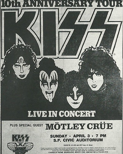 04/03/83 Kiss/ Motley Crue @ San Francisco, CA