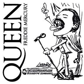 Freddie Mercury by Giuseppe Lombardi