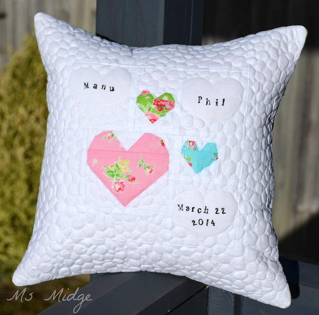 Wedding Cushion - Sugar Flowers
